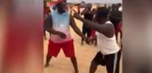 Baboye affronte Balla Gaye 2 à la plage de Mbour et cherche sa revanche (Vidéo)