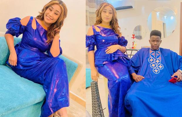 ( 07 Photos ) Spécial Tabaski  Alima de la série Adja toute ravissante avec son époux